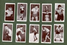 Collctable Cigarette cardsset  Boxing, Jack Dempsey Jack Johnson, etc